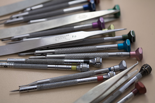 Watchmaking tools at Audemars Piguet