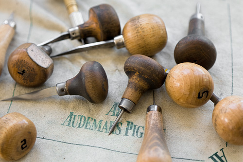 Carving tools at Audemars Piguet