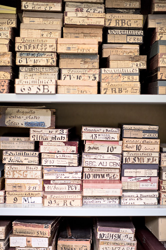 Old watch parts stored at Audemars Piguet